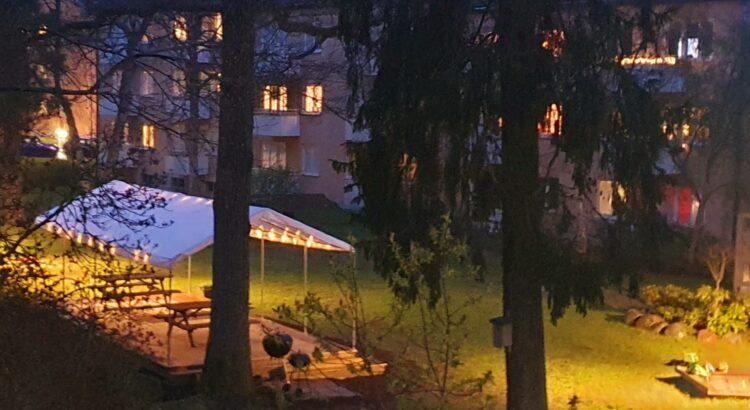 BRF Skåbo nya uteplats för grillning